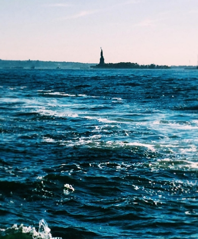statue of liberty in blue copy